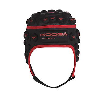 Kooga Dunedin Airtech Loop Rugby Headguard Junior [black/red]