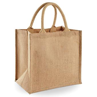 Westford Mill Jute Mini Tote Shopping Bag (14 Litres)