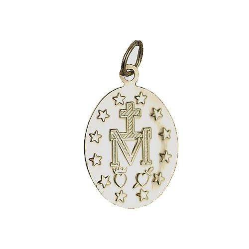 9ct Gold 20x16mm Miraculous medalion Pendant
