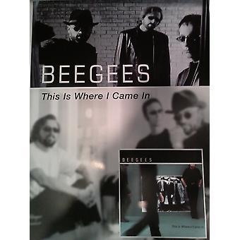 Beegees This Is Where I Came In Version 1 P