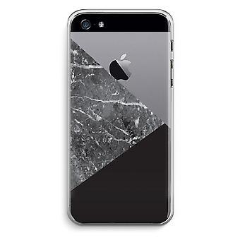 iPhone 5 / 5S / trasparente SE caso (Soft) - combinazione di marmo