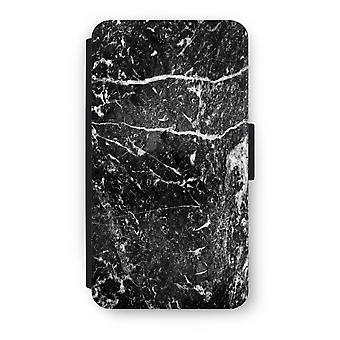 Samsung Galaxy A3 (2016) Flip Case - svart marmor