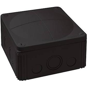 Junction box (L x W x H) 140 x 140 x 82 mm Wiska 10062214 Black