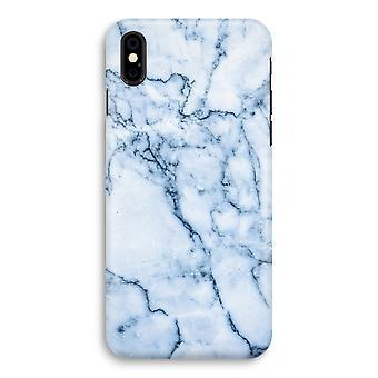 iPhonegeval X volledige Print - blauw marmer