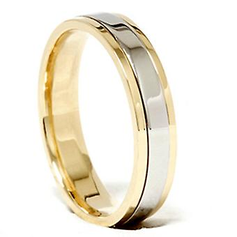 Mesdames Platinum & 18 k or Two Tone Comfort Fit mariage