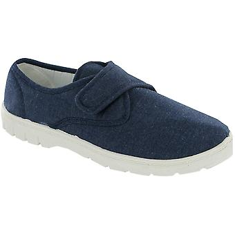 Mirak Mens Harvey Canvas Casual textiel Plimsoll stijl schoen Navy