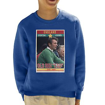 Sporting Legends Poster England Brian Clough Old Big Ead 1935 To 2004 Kid's Sweatshirt