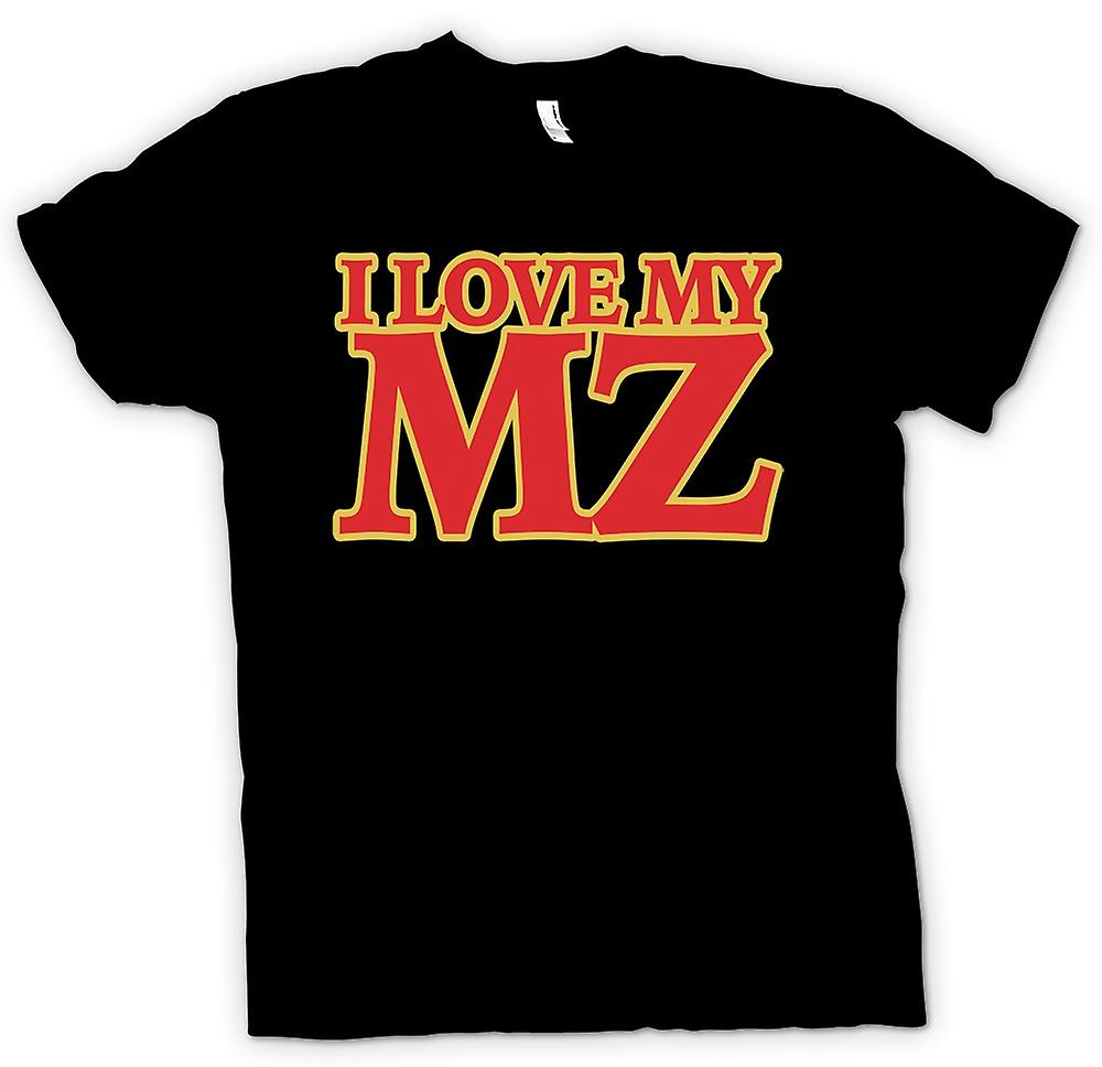 Womens T-shirt - I love my MZ - Motorcycle - Biker