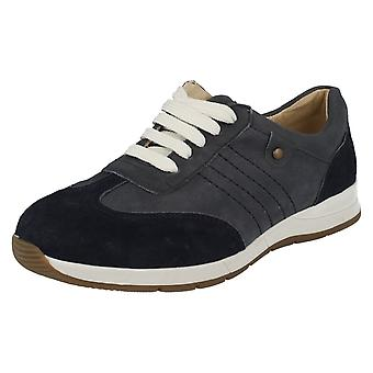 Ladies Easy B Wide Fitting Casual Shoes Crystal