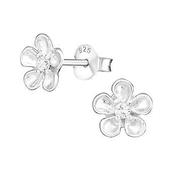 Flor - 925 plata Circonita zarcillos