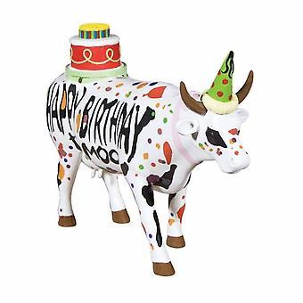 Cow Parade feliz cumpleaños (grande)
