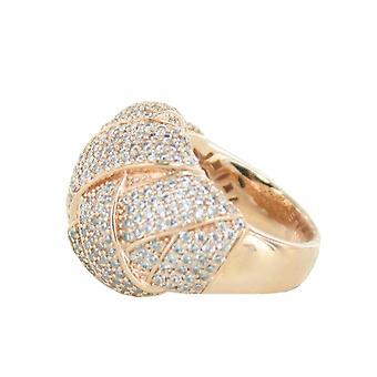 La mujer ESPRIT anillo inoxidable acero Lílaia rosado Circonita ESRG02291C1
