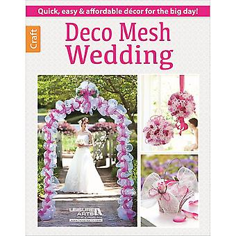 Leisure Arts-Deco Mesh Wedding