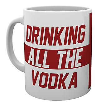 Angleterre, boire toute la tasse de Vodka