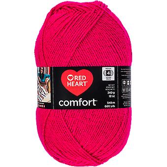 Red Heart Comfort Yarn-Cerise Shimmer