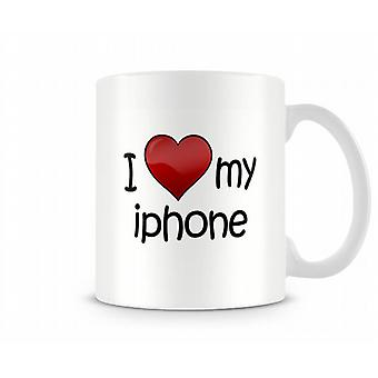 I Love My Iphone Printed Mug