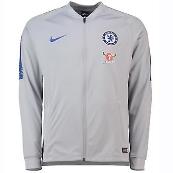 2018-2019 Chelsea Nike Squad Track Jacket (lupo grigio)
