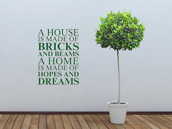 A house is made of Wall Art Sticker - Racing Green