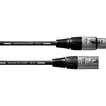 Cordial CFM10FM XLR Cable [1x XLR socket - 1x XLR plug] 10 m Black