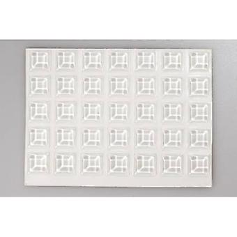 TOOLCRAFT 2127C70-C Foot self-adhesive, square Transparent (Ø x H) 12.7 mm x 3.1 mm 70 pc(s)