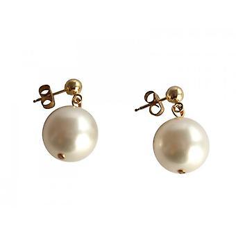 Szlachetny Beijing białym złotem Pearl kolczyki perły kolczyki