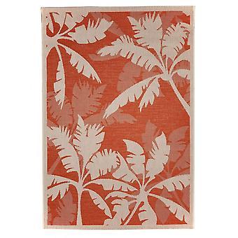 Tapete ao ar livre para terraço / tapete varanda interior / exterior - vida interior e exterior Palm laranja natural 135 x 190 cm
