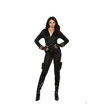 Costume de Roleplay Moments élégants Womens Agent Secret Spy Assassin Halloween