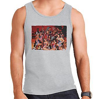 Retro gladiatoren met Pugil Sticks mannen Vest