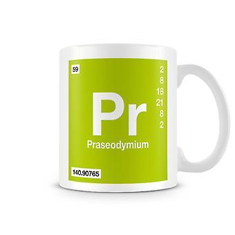 Wetenschappelijke bedrukte Mok met Element symbool 059 Praseodymium