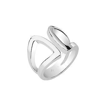 Joop kvinnors ring rostfritt stål Silver modernt FORMADE JPRG00010A1