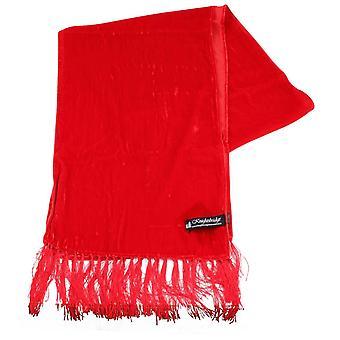 Knightsbridge corbatas bufanda de terciopelo - rojo