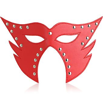 LARGE LEATHER MASK RED