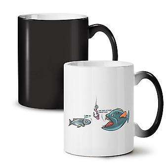 Fish Cheat Day NEW Black Colour Changing Tea Coffee Ceramic Mug 11 oz | Wellcoda