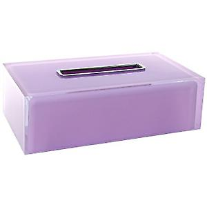 Gedy Rainbow Rectangular Tissue Box Lilac RA08 79