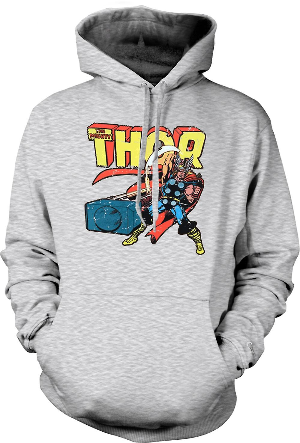 Mens Hoodie - Mighty Thor i aktion