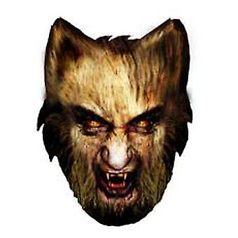 Weerwolf Halloween kaartgezicht-masker