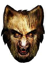 Werewolf Halloween Card Face Mask