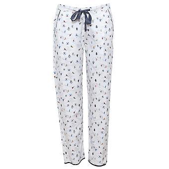 Cyberjammies 4085 kvinders Aspen hvid skiløb Print pyjamas bukser