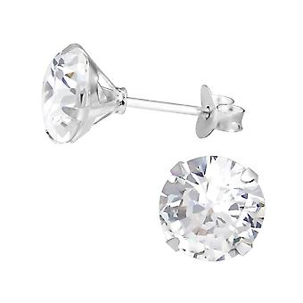 Round - 925 Sterling Silver Classic Ear Studs - W1020X