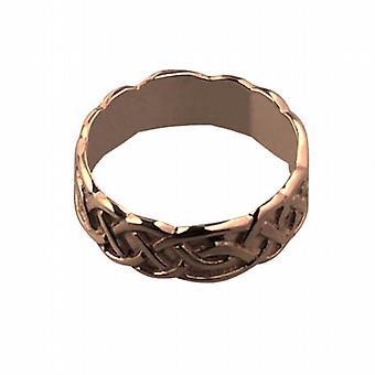 9ct Rose Gold 6mm Celtic Wedding Ring Size I