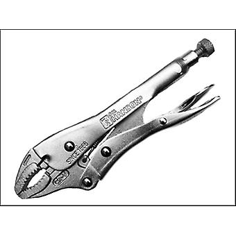 C H Hanson Manual Locking Curved Jaw Pliers 180mm (7in)