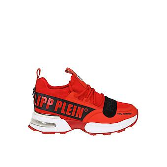 Philipp Plein Red Fabric Sneakers