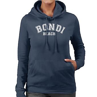 Bondi Beach College Text Women's Hooded Sweatshirt