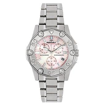 Rotary Aquaspeed Pacific Chronograph Mother Of Pearl Stainless Steel Ladies ALB90033/C/07 37mm