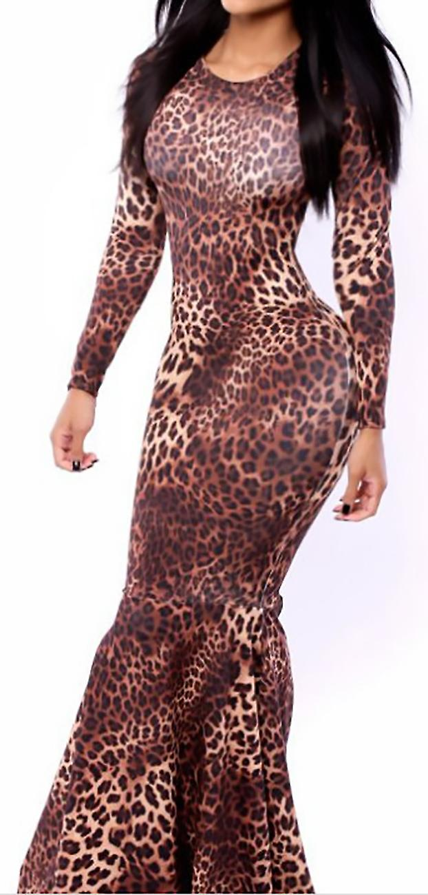 Dress long sleeves and clubwear Leopard Pinky