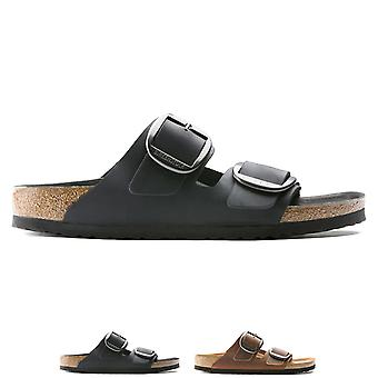 Mens Birkenstock Arizona Big Buckle Oiled Leather Fashion Cut Out Sandal UK 6-13 - -