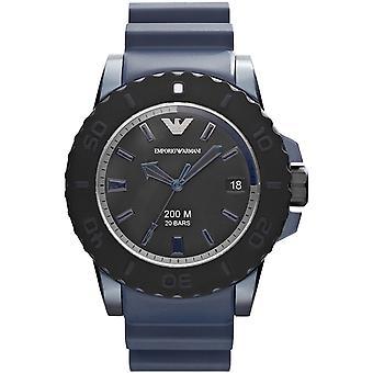 Emporio Armani Ar6100 orologio da uomo in alluminio e gomma blu