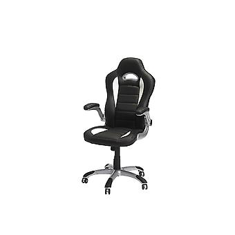 Furnhouse Speedy 3 Office Chair, Black/White, Plastic Base, 62x62x128 cm