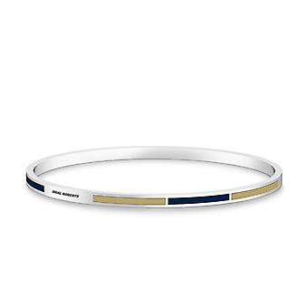 Oral Roberts University Oral Roberts Engraved Two-Tone Enamel Bracelet In Blue And Tan
