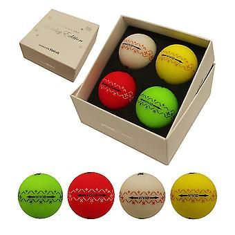 Volvik Vivid jule pakke Limited Edition Golf bolde (4 bolde)